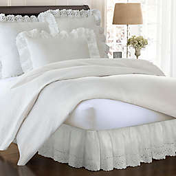 Smootheweave™ Ruffled Eyelet 14-Inch California King Bed Skirt in Ivory