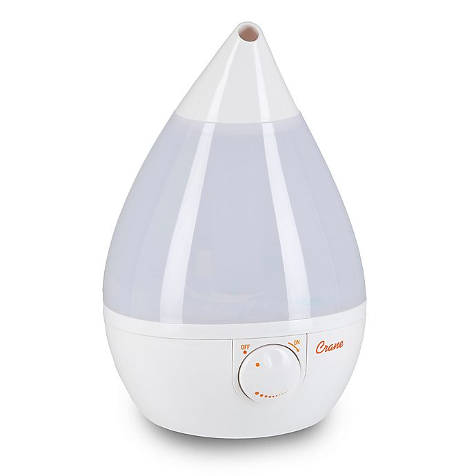 Alternate image 1 for Crane Ultrasonic Cool Mist Drop Shape Humidifier in White
