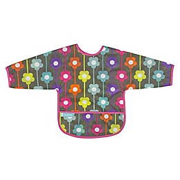 Kushies® Daisies Cleanbib with Sleeves in Charcoal