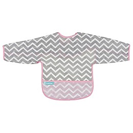 Kushies® Chevron Cleanbib with Sleeves in Pink