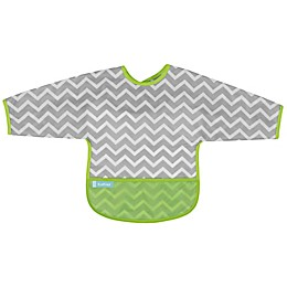 Kushies® Chevron Cleanbib with Sleeves in Green