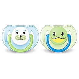 Philips Avent 6-18M 2-Pack Animal Soothers in Blue/Green