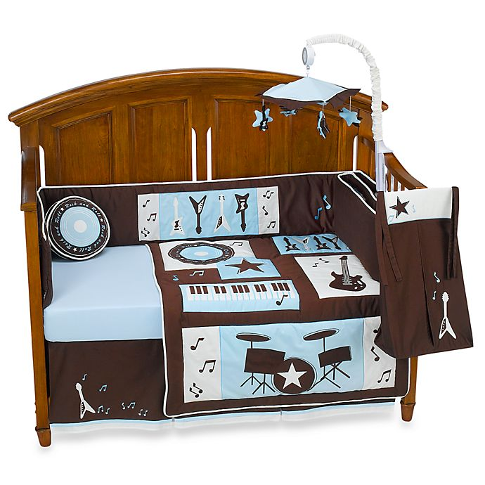 Lambs & Ivy® Rock \'n Roll 4-Piece Crib Bedding Set and Accessories ...
