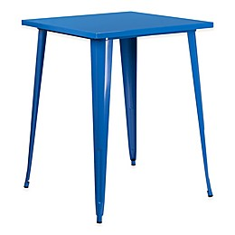 Flash Furniture 33.5-Inch Square Bar Height Metal Table