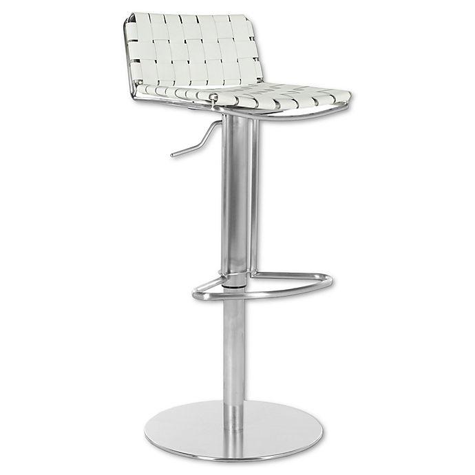Super Safavieh Floyd Swivel Adjustable Height Bar Stool In White Lamtechconsult Wood Chair Design Ideas Lamtechconsultcom