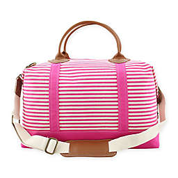 CB Station Color Weekender Bag in Hot Pink Stripe