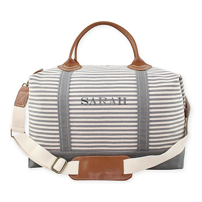 Alternate image 1 for CB Station Color Weekender Bag in Grey Stripe