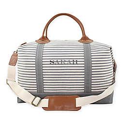 CB Station Color Weekender Bag in Grey Stripe
