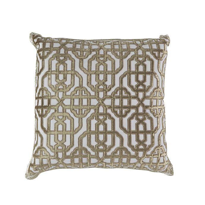 Callisto Home Trellis Accent Pillow In Cream Bed Bath