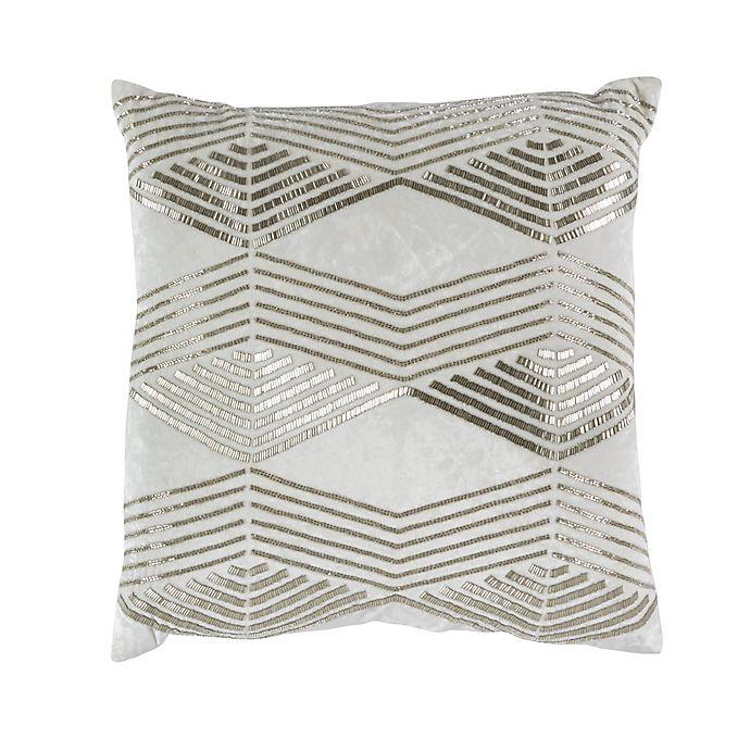 Alternate image 1 for Callisto Home Geo Accent Pillow in Cream