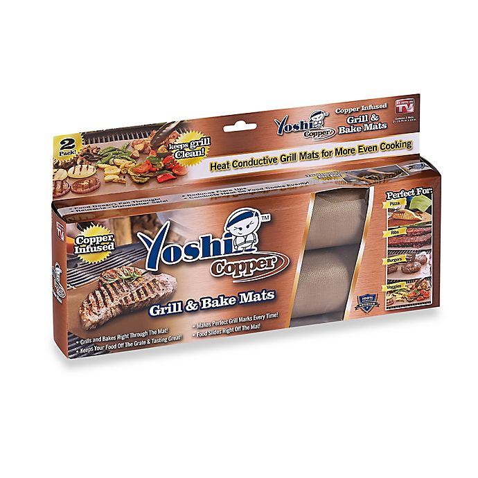 Alternate image 1 for Yoshi Copper Grill and Bake Mats (Set of 2)