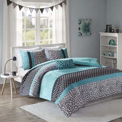 Mi Zone Chloe Comforter Set In Teal Bed Bath Amp Beyond