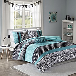 Mi Zone Chloe Comforter Set in Teal
