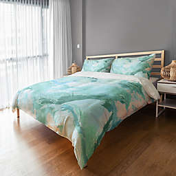 Marble Watercolor Duvet Cover