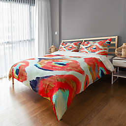 Abstract Ikat Duvet Cover