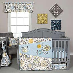 Trend Lab® Waverly Pom Pom Spa 4-Piece Crib Bedding Set in Blue/Green