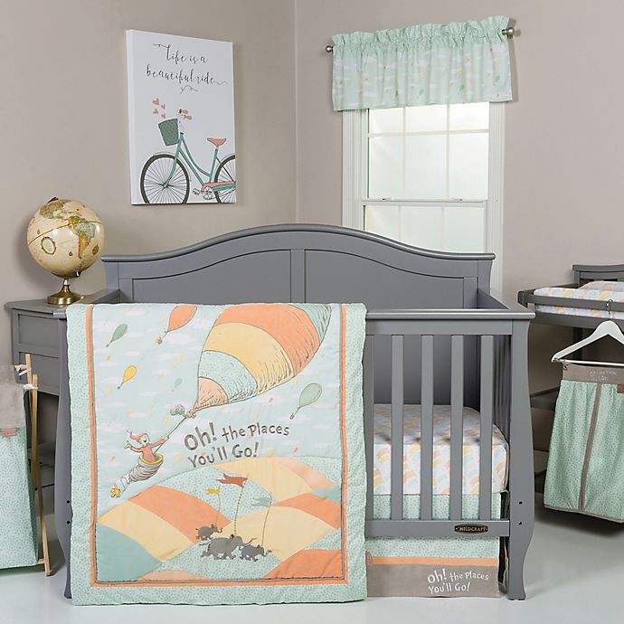 Alternate image 1 for Trend Lab® Dr. Seuss™ Oh! The Places You'll Go 5-Piece Crib Bedding Set in Orange/Yellow