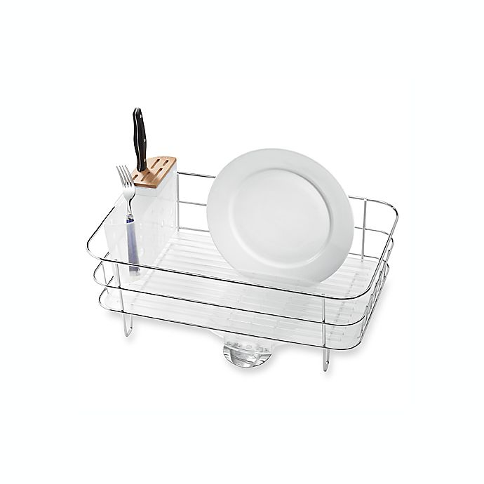Alternate image 1 for simplehuman® Slim Dish Rack