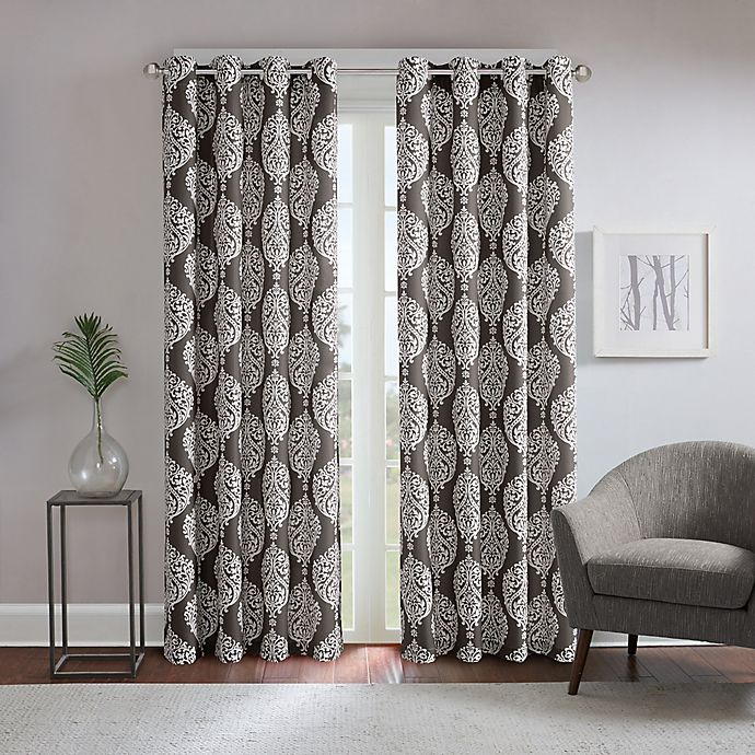 Alternate image 1 for Regency Heights® Zion 95-Inch Grommet Top Window Curtain Panel in Charcoal