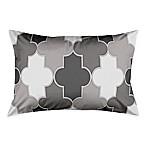 Simple Quatrefoil Standard Pillow Sham n Grey/White