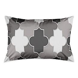 Simple Quatrefoil Pillow Sham n Grey/White