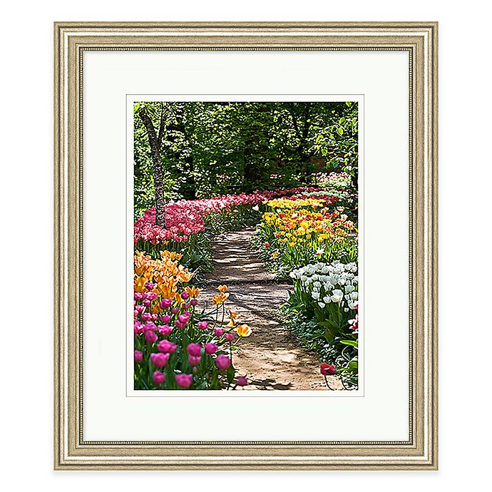 Garden Path Wall Art With Silver Frame
