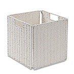 Real Simple® Woven Paper Rope Folding Storage Basket in White
