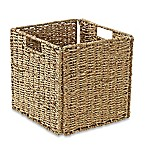 Real Simple® Woven Sea Grass Folding Storage Basket in Natural