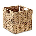 Real Simple® Woven Water Hyacinth Folding Storage Basket in Natural