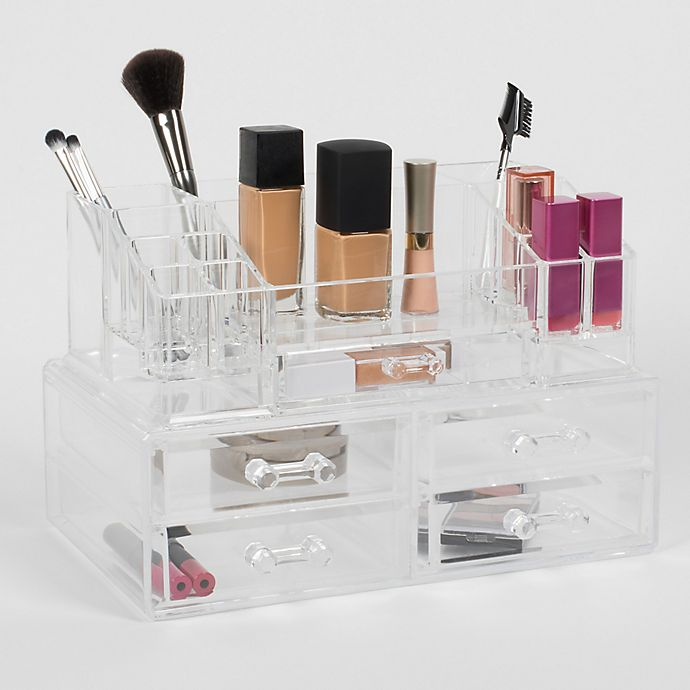 Alternate image 1 for Cosmetique Large 2-Piece 5-Drawer Cosmetique Set Clear