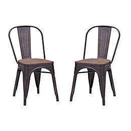 Zuo® Elio Dining Chair in Wood (Set of 2)