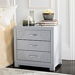 Safavieh 3-Drawer Raina Greek Key Nightstand
