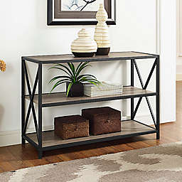 "Forest Gate 40"" Blair Industrial Modern Media Bookshelf"