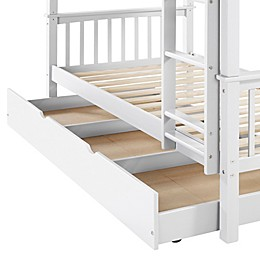 Forest Gate Charlotte Solid Wood Twin Trundle Bed