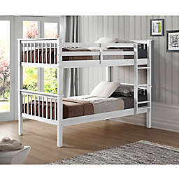 Forest Gate™ Mission Solid Wood Twin over Twin Bunk Bed