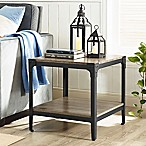 Forest Gate Wheatland Rustic Wood End Table in Driftwood (Set of 2)