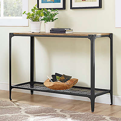 Forest Gate Wheatland Industrial Modern Wood Sofa Entry Table