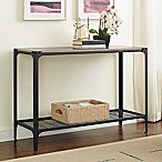 Forest Gate Wheatland Industrial Modern Wood Sofa Entry Table in Driftwood