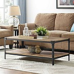 Forest Gate Wheatland Angle Coffee Table in Chestnut