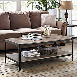 Forest Gate Wheatland Industrial Modern Wood Coffee Table