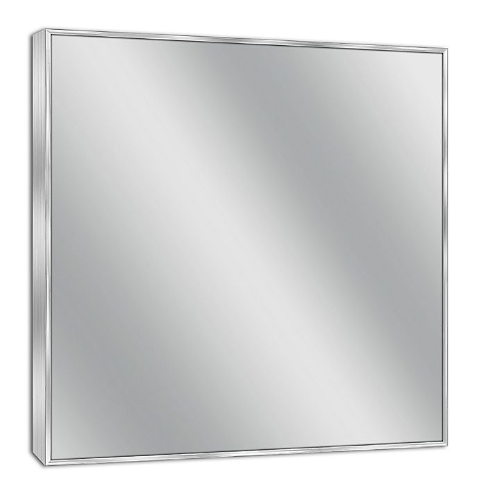 Spectrum Rectangular Framed Wall Mirror In Brushed Nickel Bed Bath
