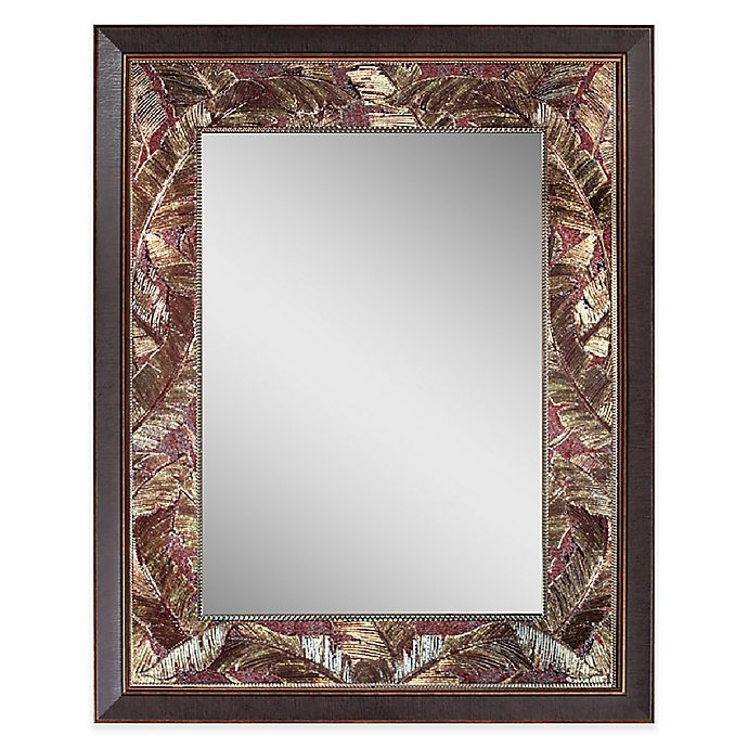 Alternate image 1 for Tropical Leaf 27-Inch x 35-Inch Mirror in Copper