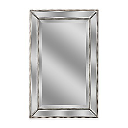 Metro 20-Inch x 32-Inch Beaded Mirror in Silver