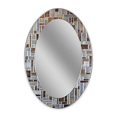 Winsor 12-Inch x 31-Inch Oval Frameless Mirror in Silver