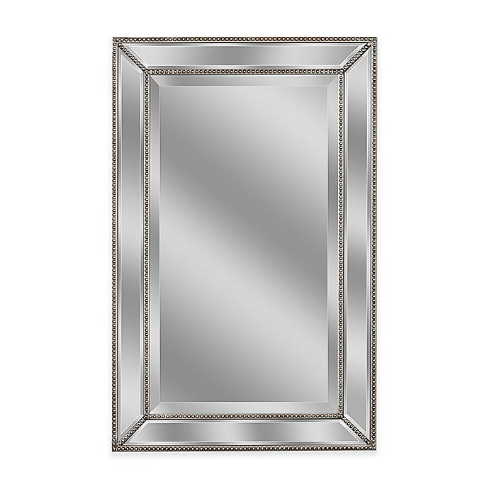 Alternate image 1 for Metro 2-Foot x 3-Foot Beaded Mirror in Silver