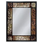 25-Inch x 33-Inch Patchwork Mirror in Bronze
