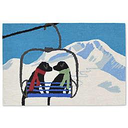 Liora Manne Frontporch Ski Lift Love Indoor/Outdoor Mat