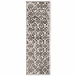 Safavieh Amherst Abigail 2-Foot 3-Inch x 7-Foot Indoor/Outdoor Area Rug in Grey/Light Grey
