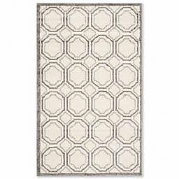 Safavieh Amherst Abigail 4-Foot x 6-Foot Indoor/Outdoor Area Rug in Ivory/Light Grey