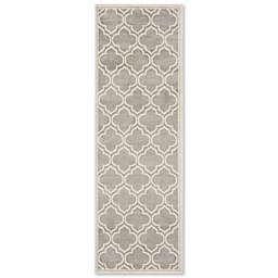 Safavieh Amherst Belle 2-Foot 3-Inch x 13-Foot Indoor/Outdoor Area Rug in Light Grey/Ivory